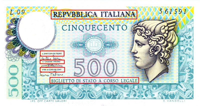 nuove 500 lire restyling 2015